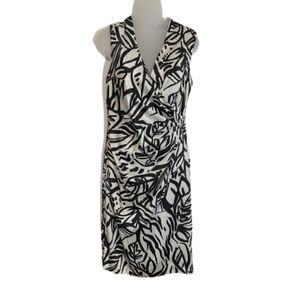 LAUREN ralph lauren black and white dress.